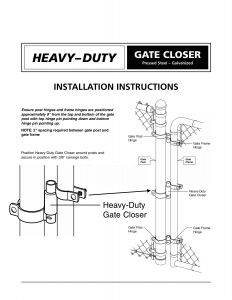 Mighty Mule Gate Opener Wiring Diagram - Mighty Mule Gate Opener Wiring Diagram Beautiful Chain Link Gate Spring Closer for 2 3 8&quot 10j