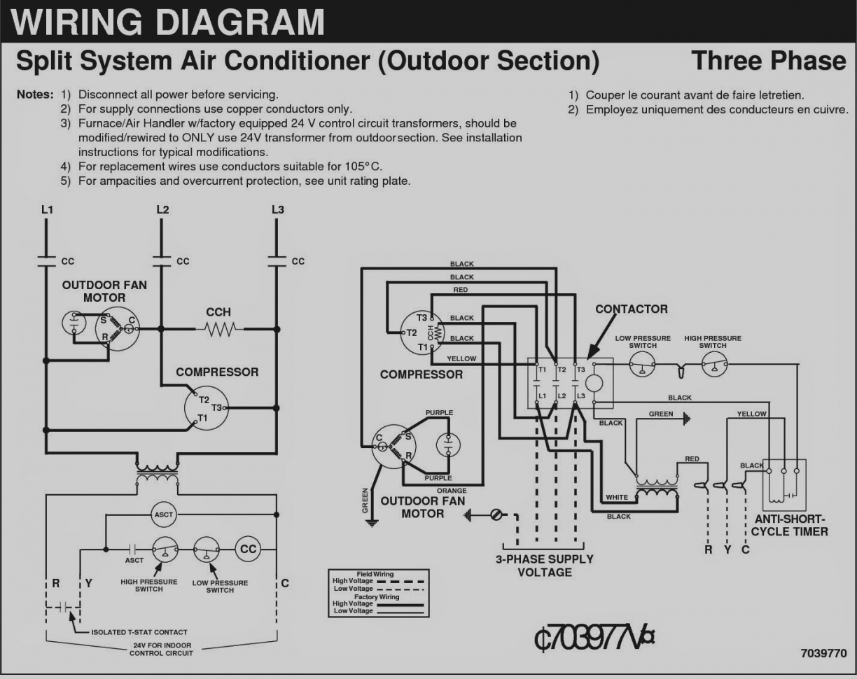 Hvac Wiring Diagrams Diagram Data Basic Furnace For Units Single Phase Motor Of How