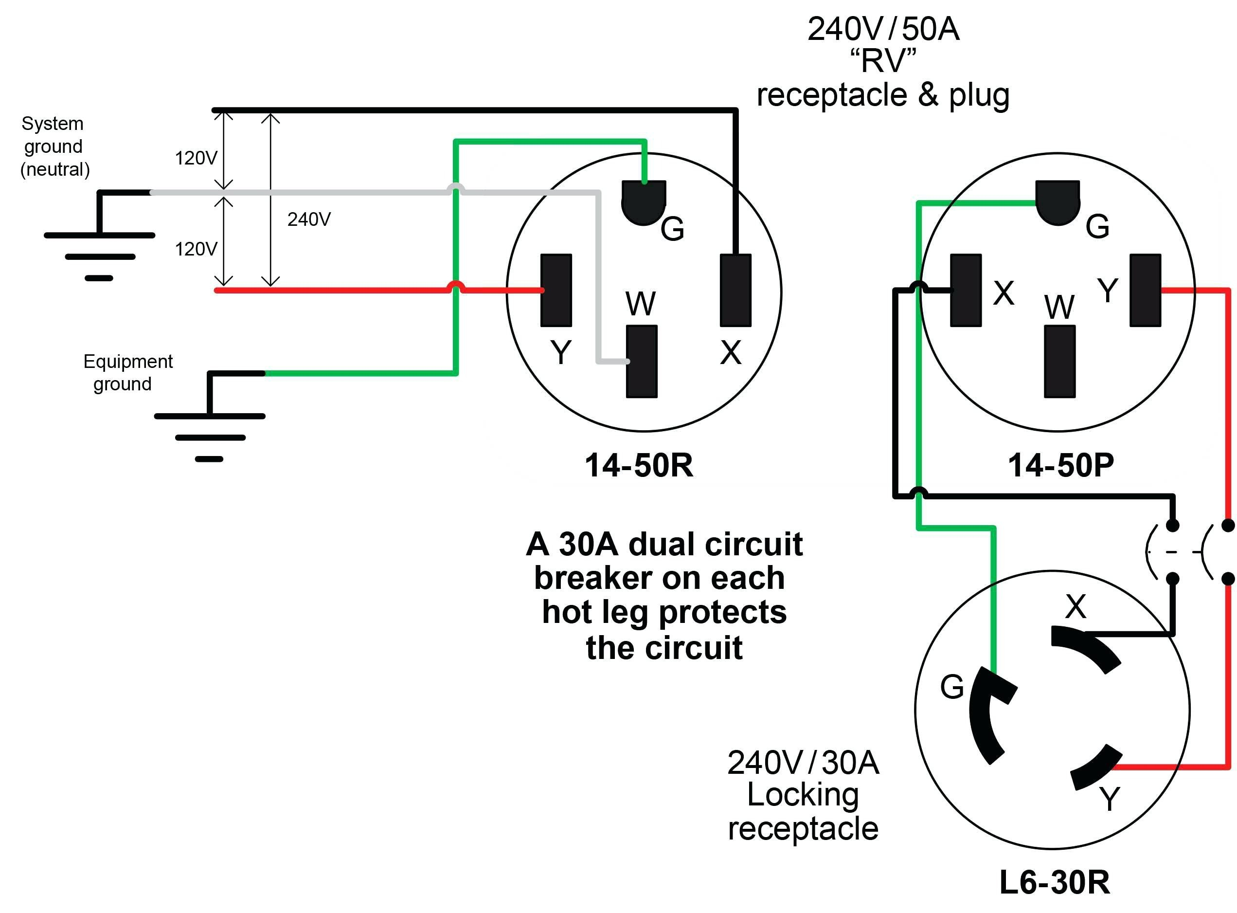 Wiring Diagram For A 3 Prong Plug To A 4 Wire Cord On Nema L14 30p on