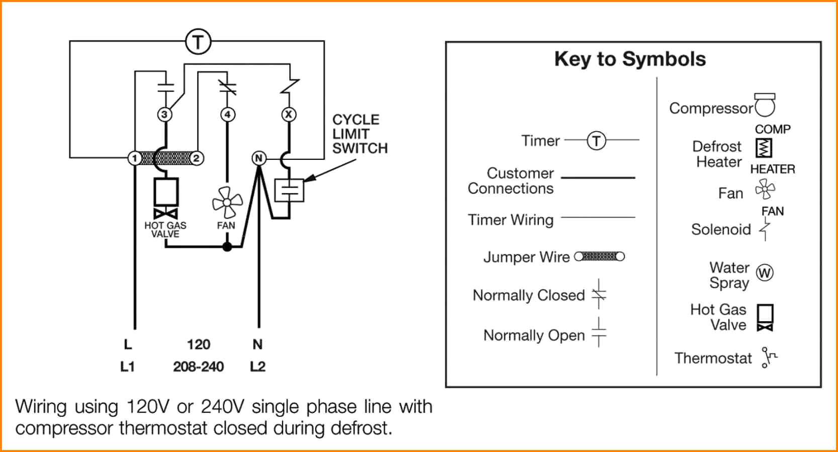 collection of paragon defrost timer 8145 20 wiring diagram ... refrigerator defrost timer wiring diagram #5