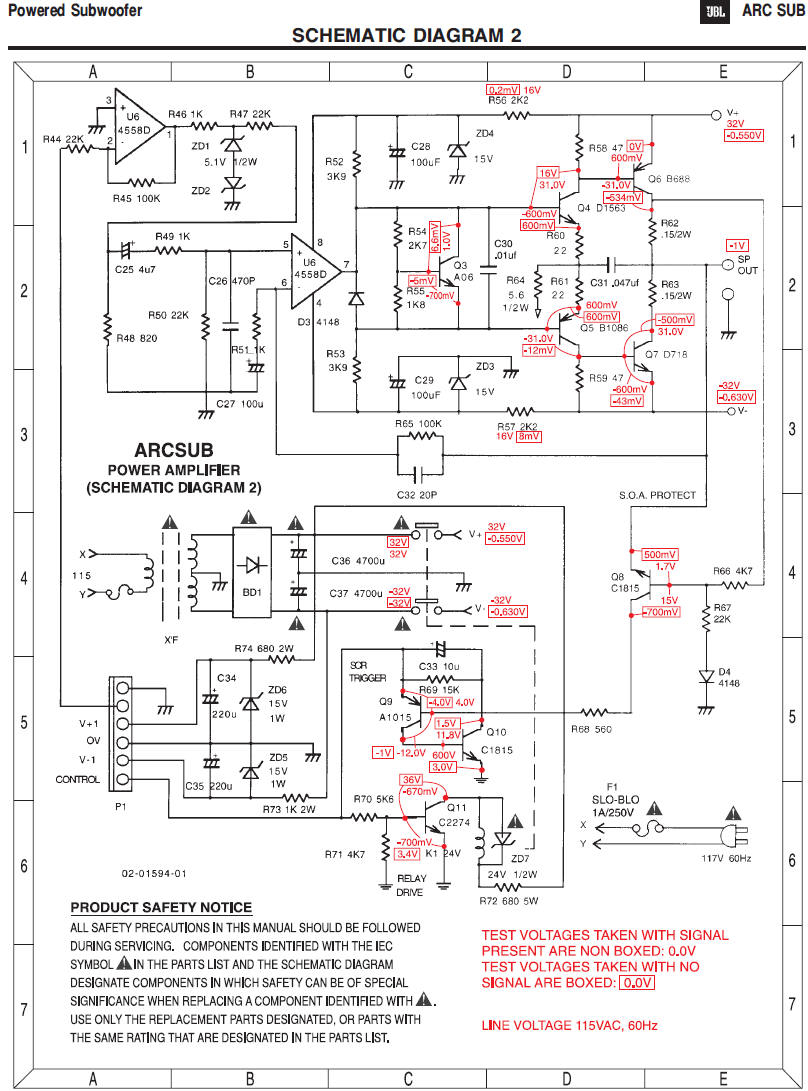 polk audio subwoofer wiring diagram Collection-JBL Sp2 1-a