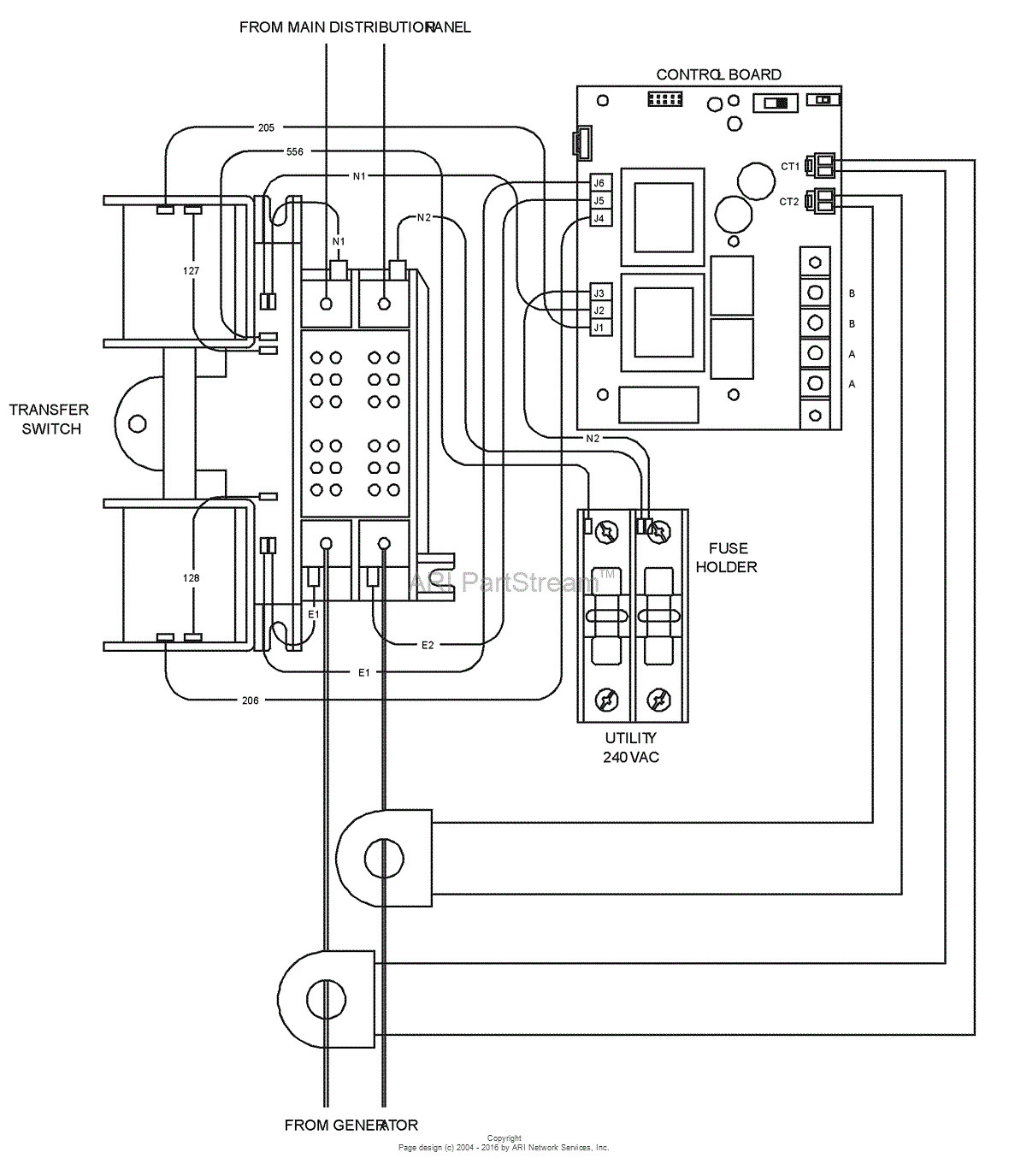 Standby Generator Wiring Diagram Collection Standby Generator Wiring