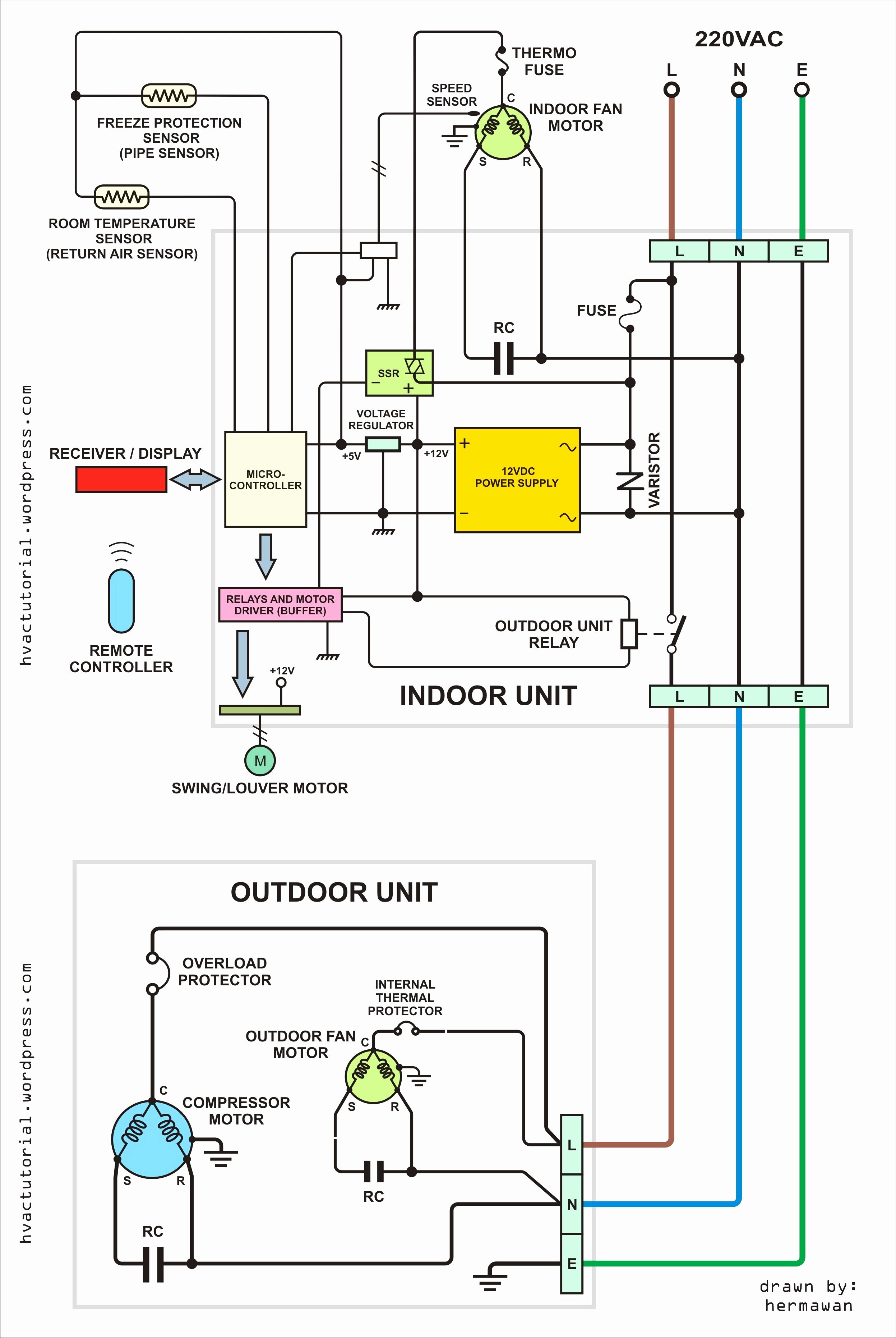 Get Residential Air Conditioner Wiring Diagram Download