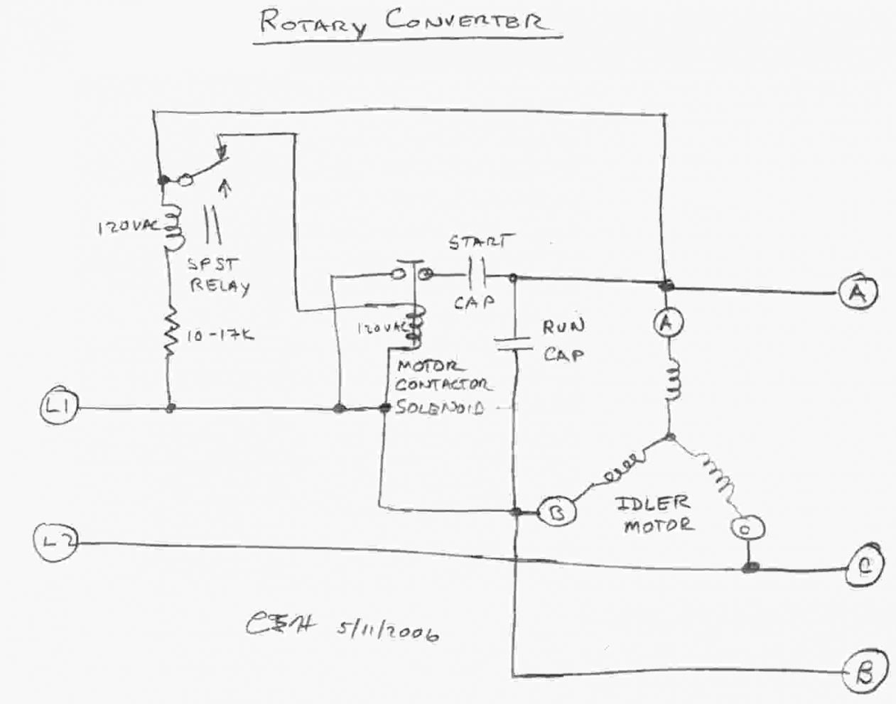 rotary phase converter wiring diagram Download-Elegant Single Phase Motor Wiring Diagram With Capacitor Unique Single Phase Single Phase To 3 Phase 9-e