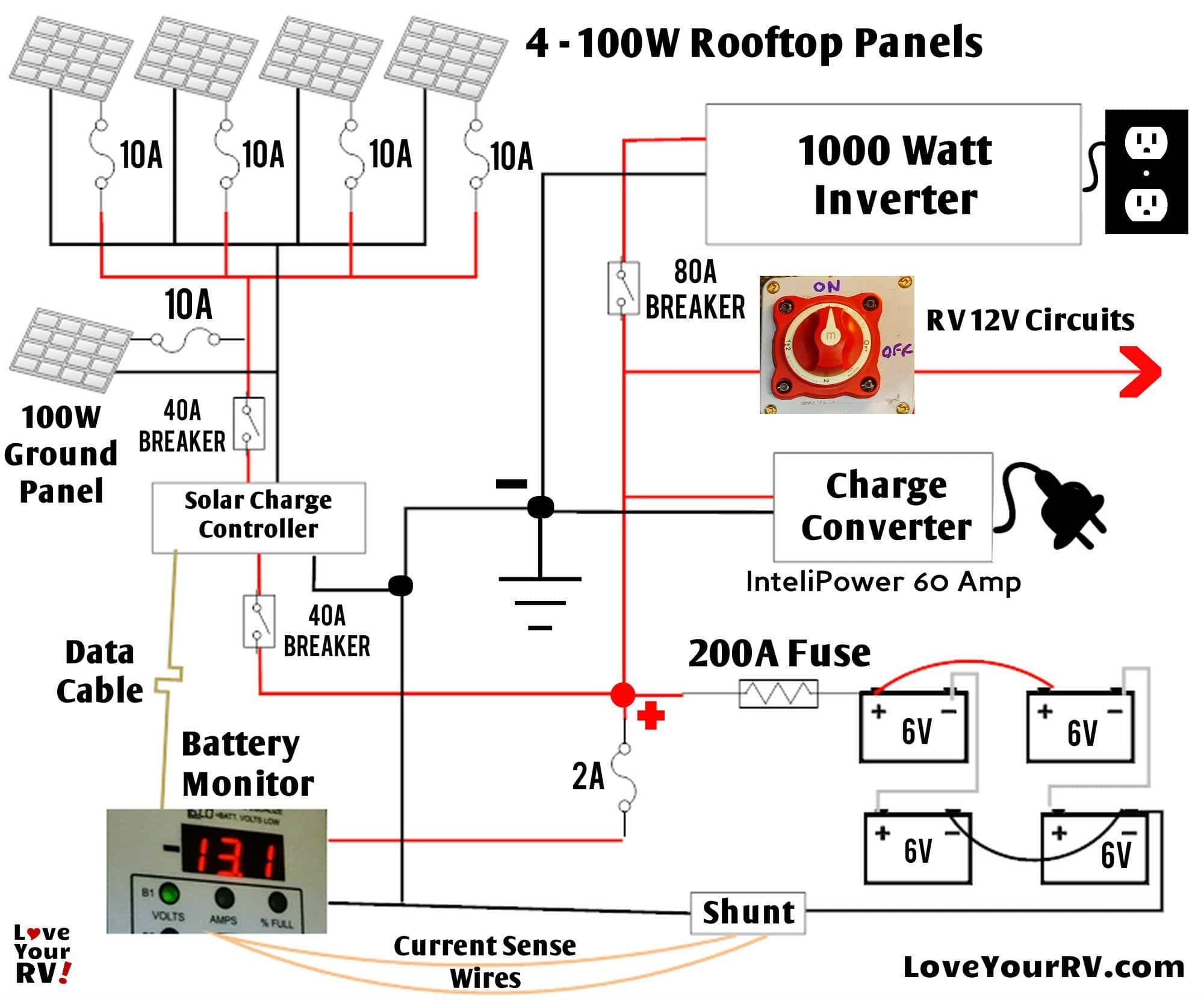 rv solar panel installation wiring diagram Collection-Detailed Look at Our DIY RV Boondocking Power System 20-f