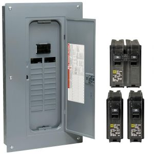 Square D Homeline Load Center Wiring Diagram - Homeline 100 Amp 20 Space 40 Circuit Indoor Main Breaker Qwik Grip Plug 17h