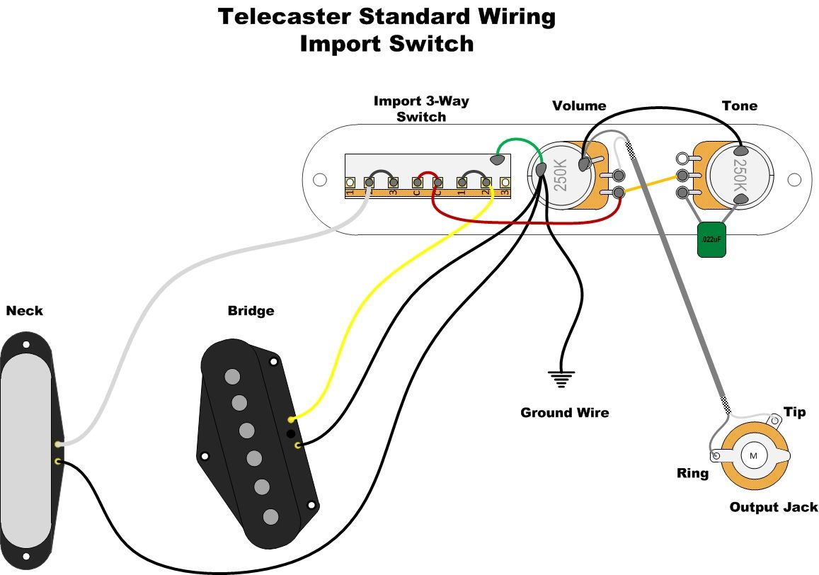 standard telecaster wiring diagram Download-A wealth of guitar wiring diagrams 11-e