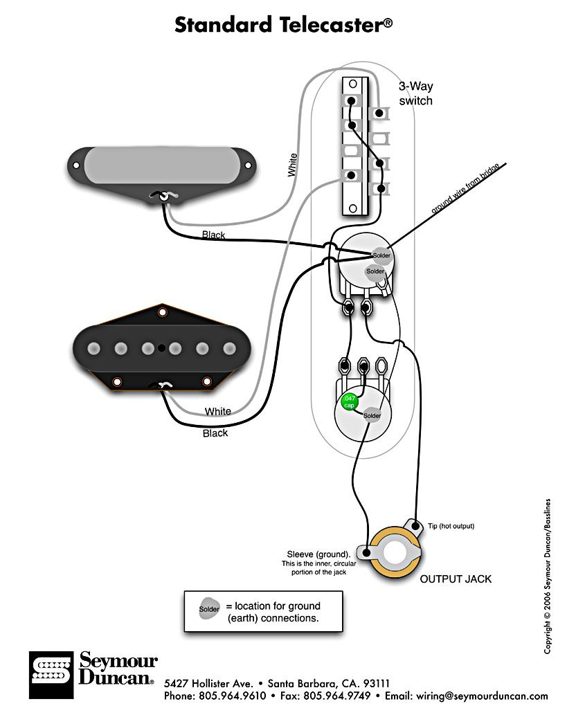 standard telecaster wiring diagram Collection-Standard Tele Wiring Diagram 3-r