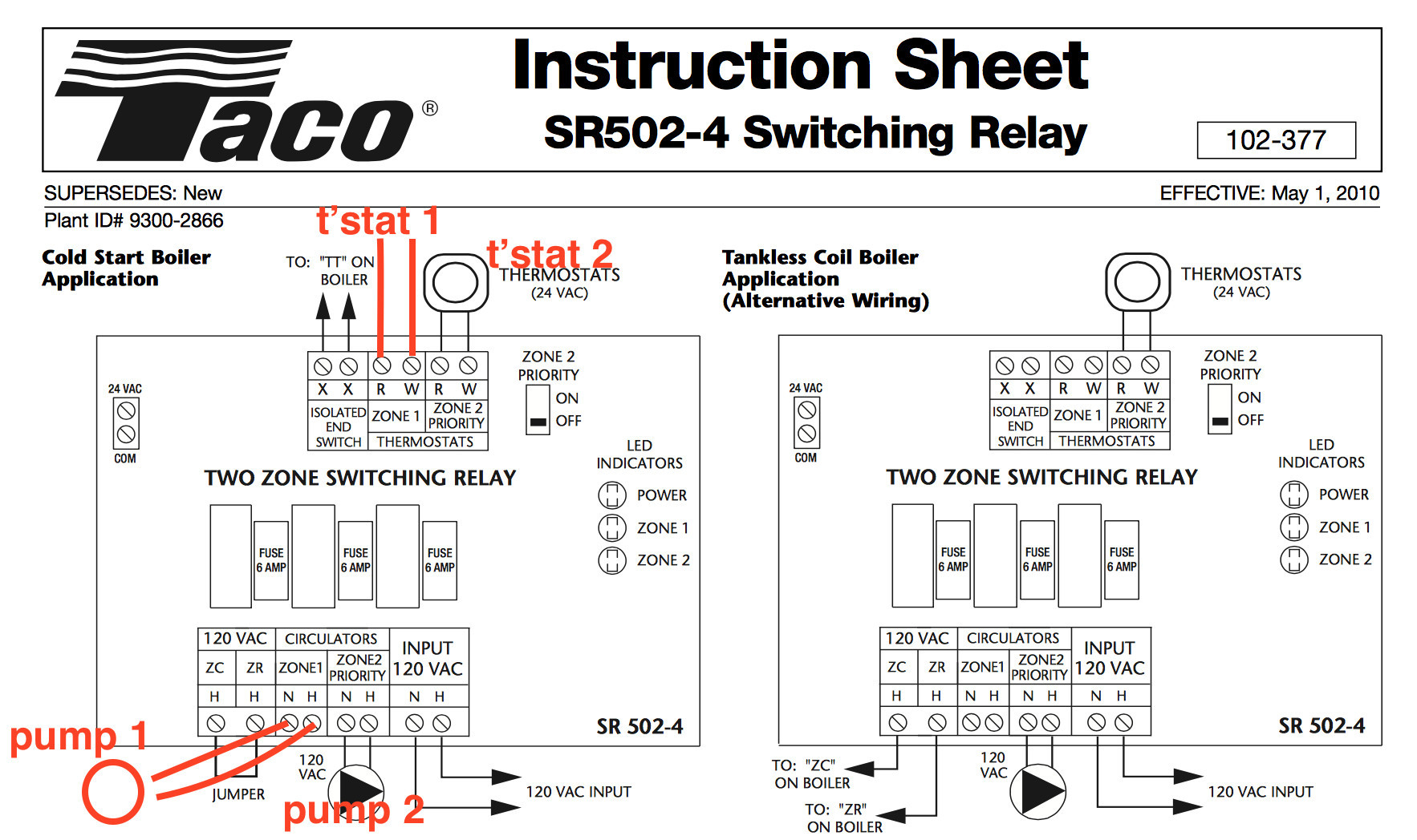 Taco 007 F5 Wiring Diagram Sample