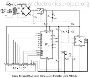 Temperature Controller Wiring Diagram - Circuit Diagram Of Temperature Indicator Using at89c52 7h