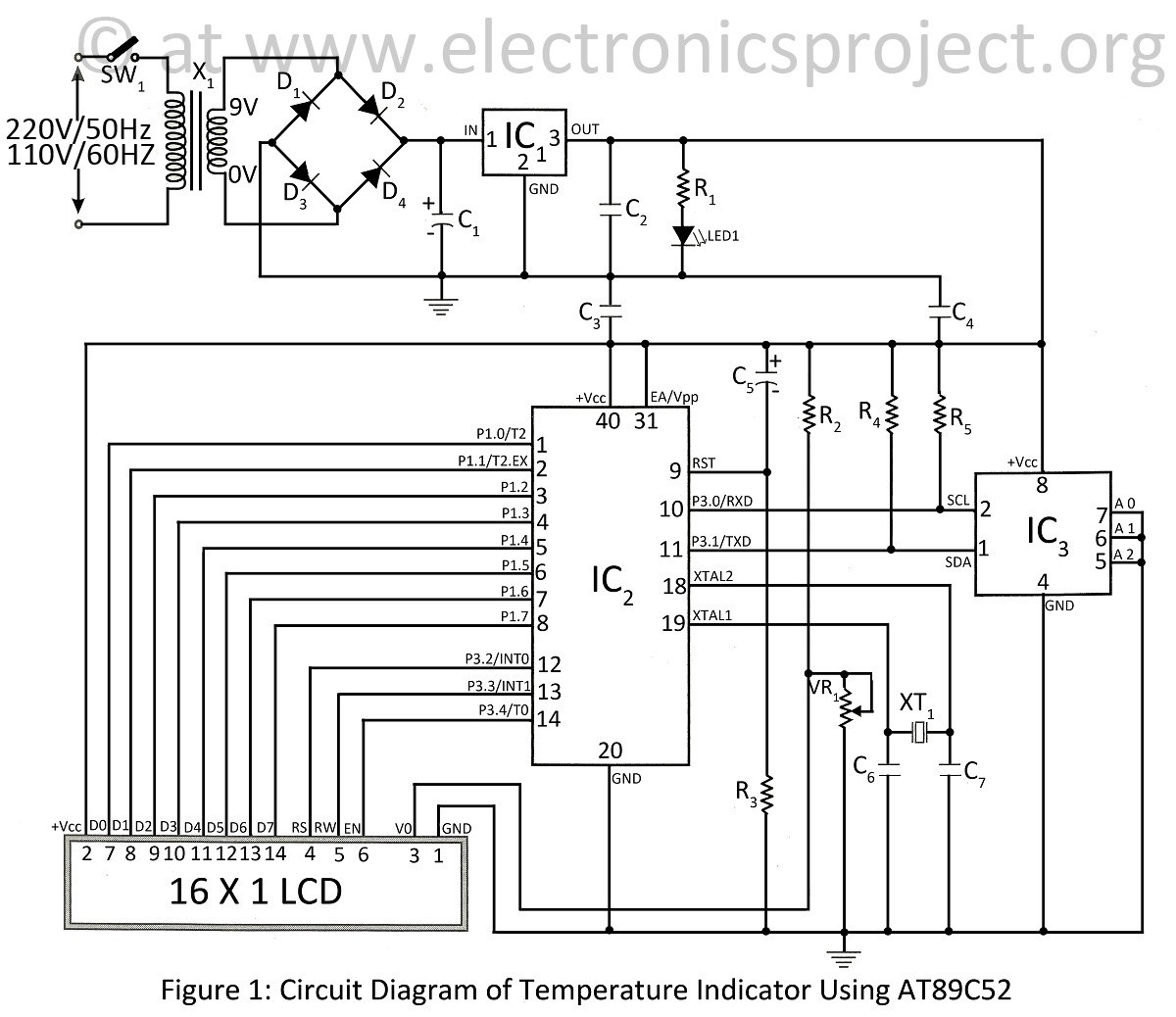 temperature controller wiring diagram Download-circuit diagram of temperature indicator using at89c52 17-a
