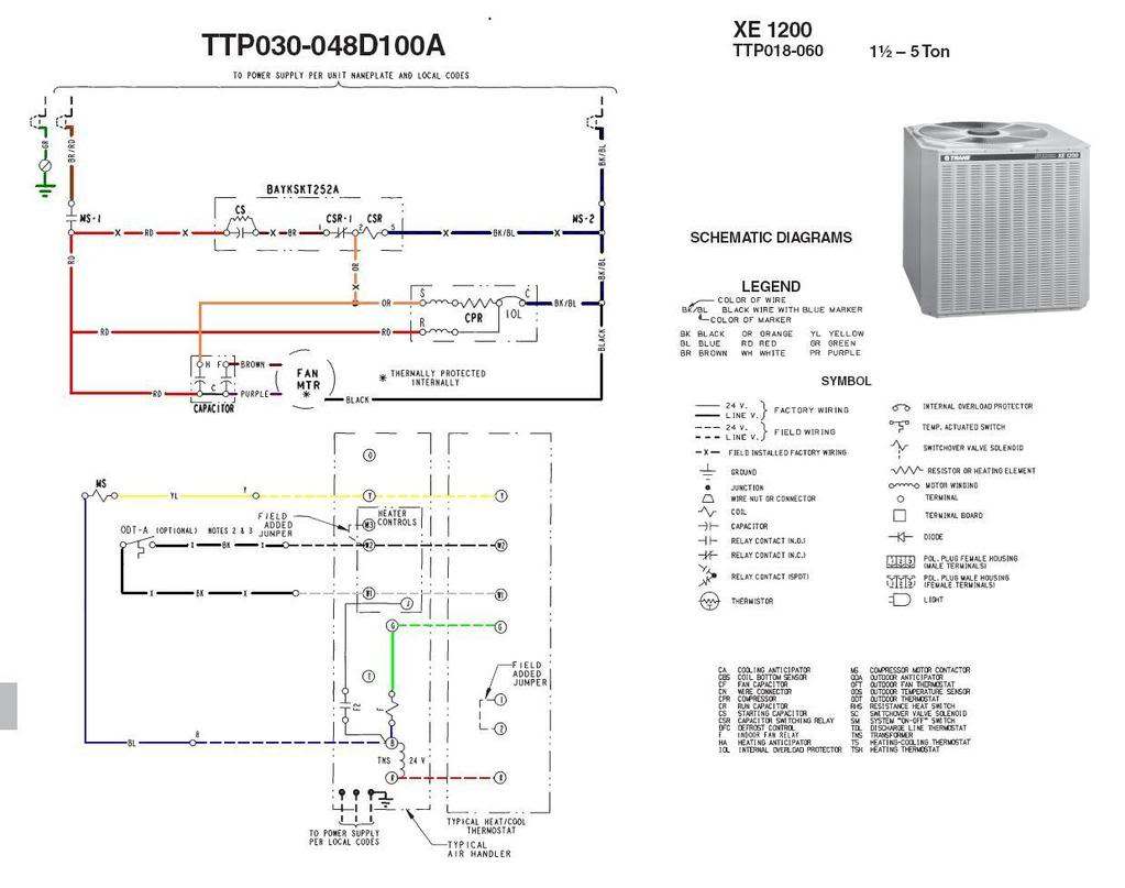Find Out Here Trane Package Unit Wiring Diagram Sample