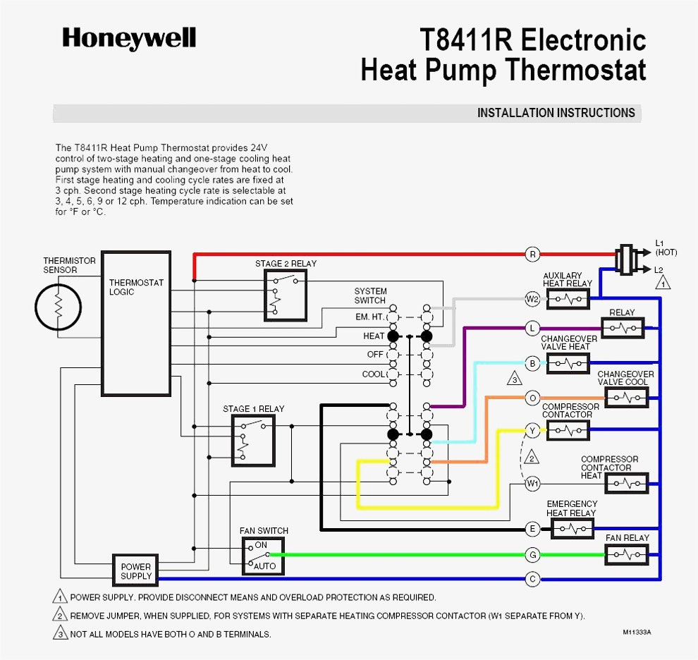 Gallery Of Trane Thermostat Wiring Diagram Download