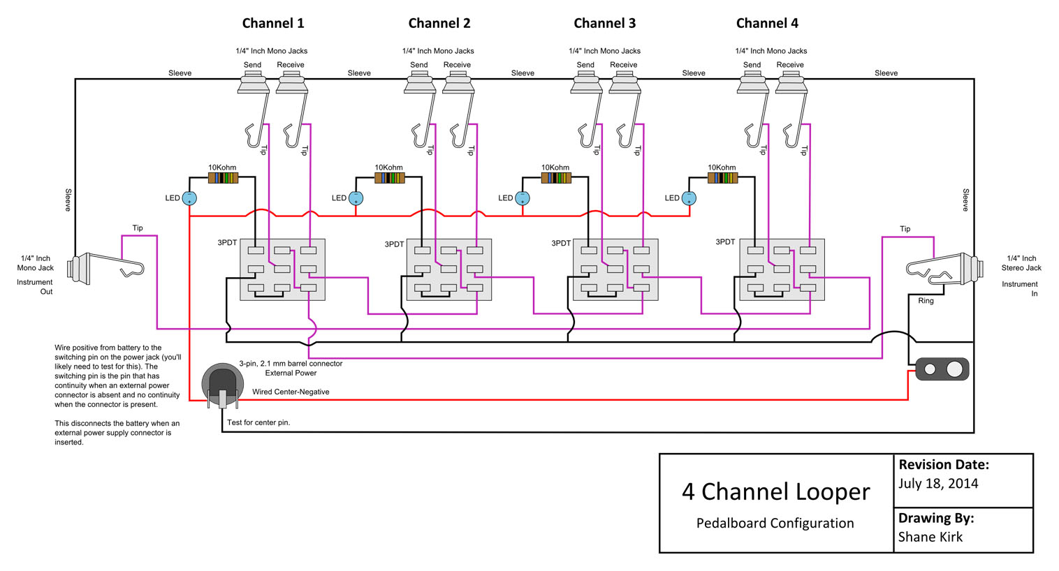 true tuc 27f wiring diagram Download-True Bypass Looper Wiring Diagram 6-h