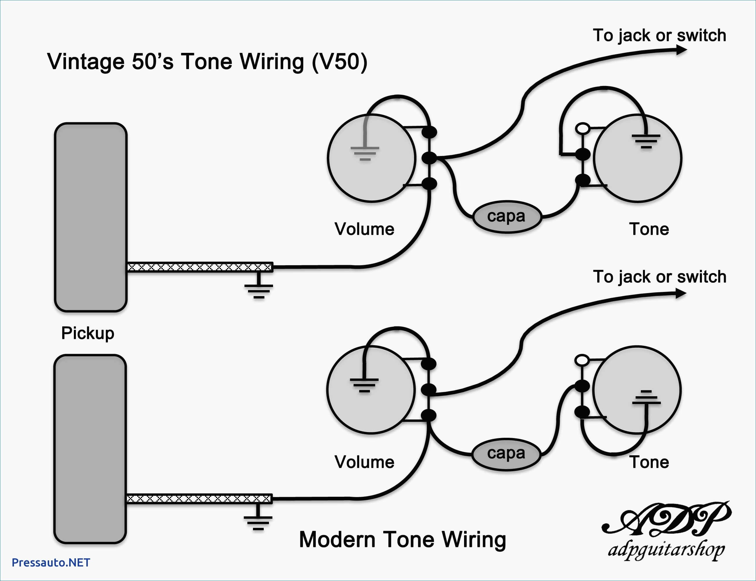 Vintage Les Paul Wiring Diagram Download on