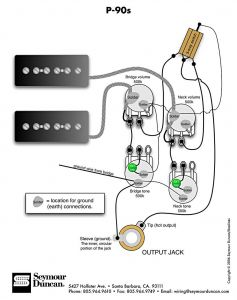 Vintage Les Paul Wiring Diagram - P 90s 2 Vol 2 tone &switch 10r