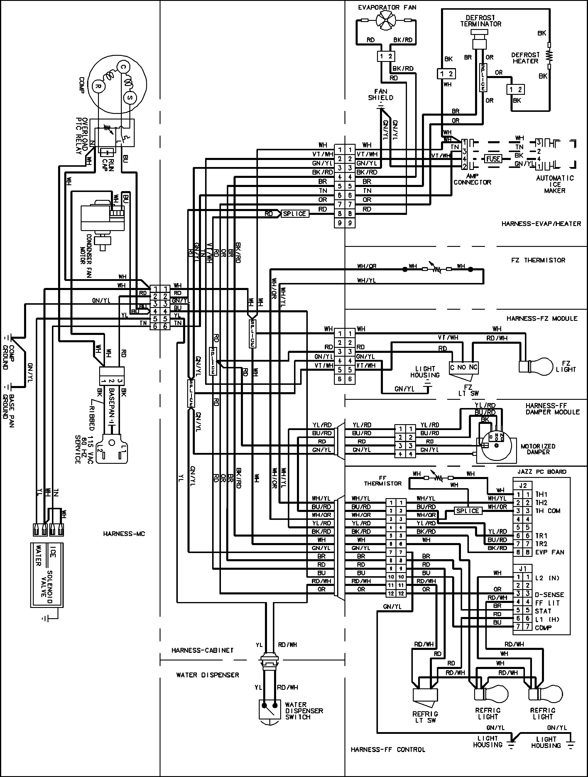 whirlpool fridge wiring diagram Collection-Wiring Diagram for Zanussi Fridge Freezer Best Whirlpool Fridge Wiring Diagram Beautiful Refrigerator Defrost Timer 4-o
