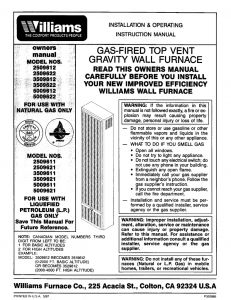 Williams Wall Furnace Wiring Diagram - Williams Fan Coil Unit Wiring Diagram Awesome Gas Furnace Wiring Diagram for Wall Wiring Diagram 12i