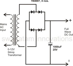 Wiring Diagram Bridge Rectifier - Ponent How to Design A Power Supply Circuit Simplest the Most Ac Dc Rectifier Poweer 15q