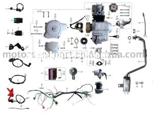Wiring Diagram for 110cc 4 Wheeler - Coolster 110cc atv Parts Furthermore 110cc Pit Bike Engine Diagram Along with Coolster 125cc atv Wiring Diagram and Razor E300 Electric Scooter Wiring 18g