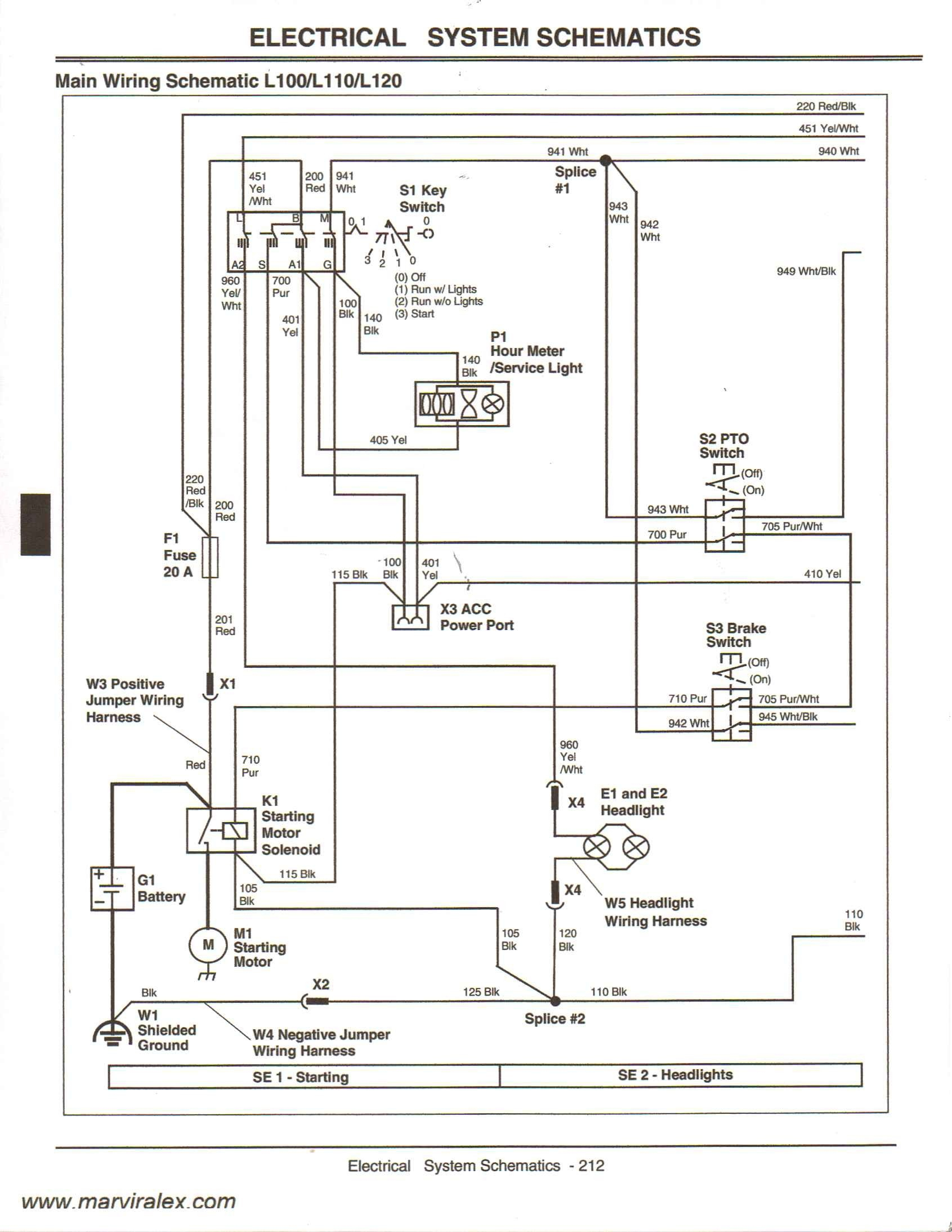 Wiring Diagram for John Deere Riding Lawn Mower - John Deere 318 Ignition  Switch Wiring Diagram
