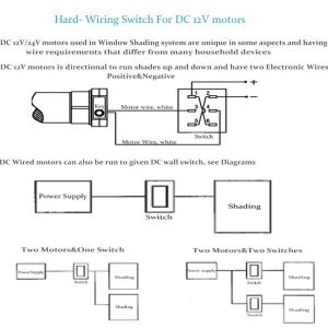 Wiring Diagram for Motorized Blinds - Amazon Rollerhouse Electric Roller Blind Shades with 16mm Tubular Motor Kit Hard Wired Switching for 12v Dc Motors Suit for 1 1 Inch Roller Tube 2o