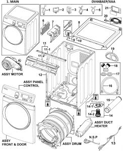Wiring Diagram for Samsung Dryer Heating Element - 11e