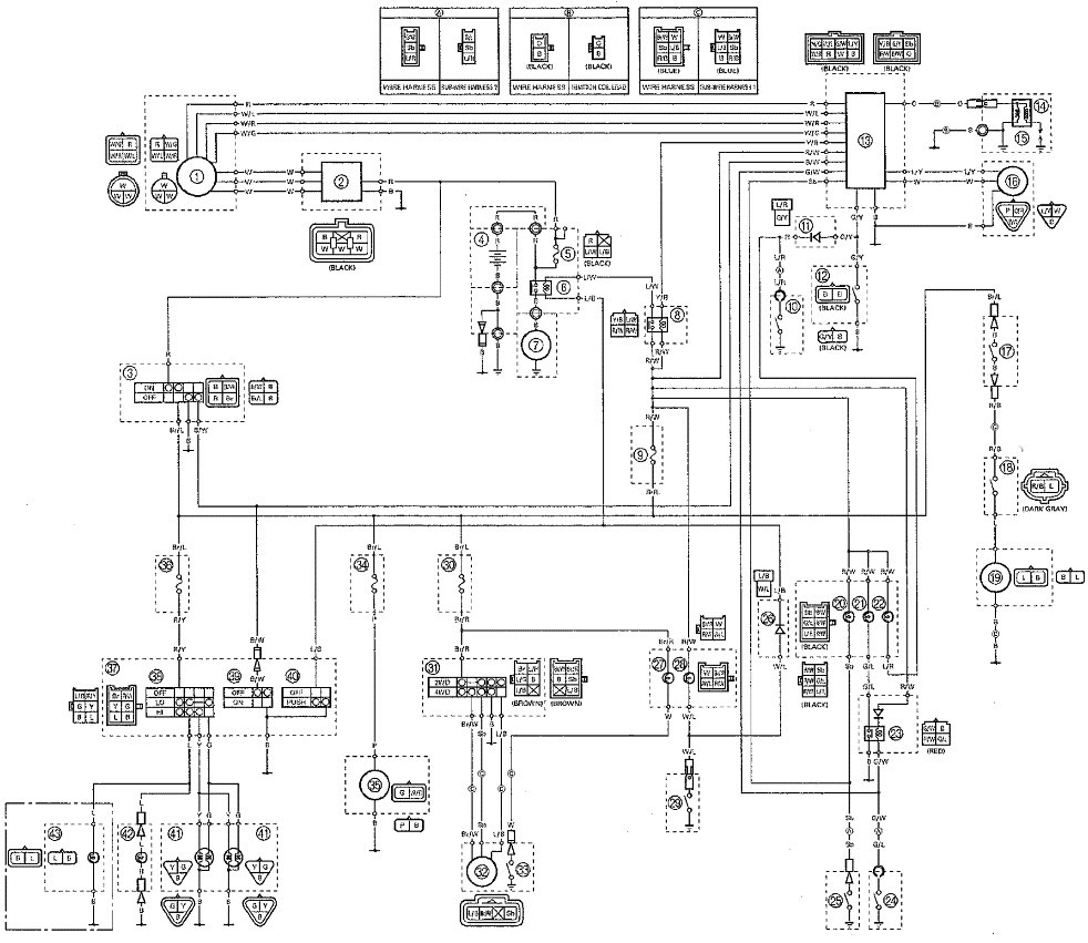 yamaha key switch wiring diagram