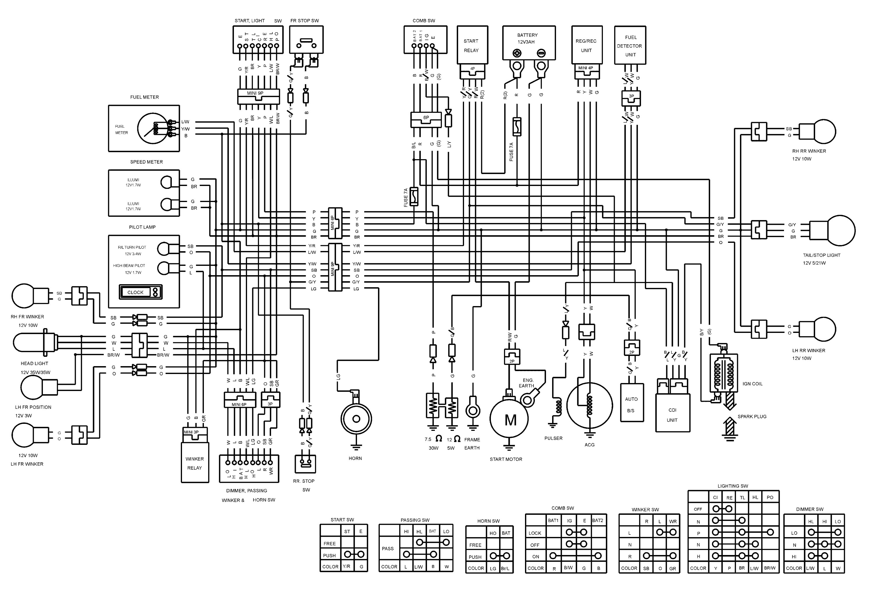 yamaha key switch wiring diagram download