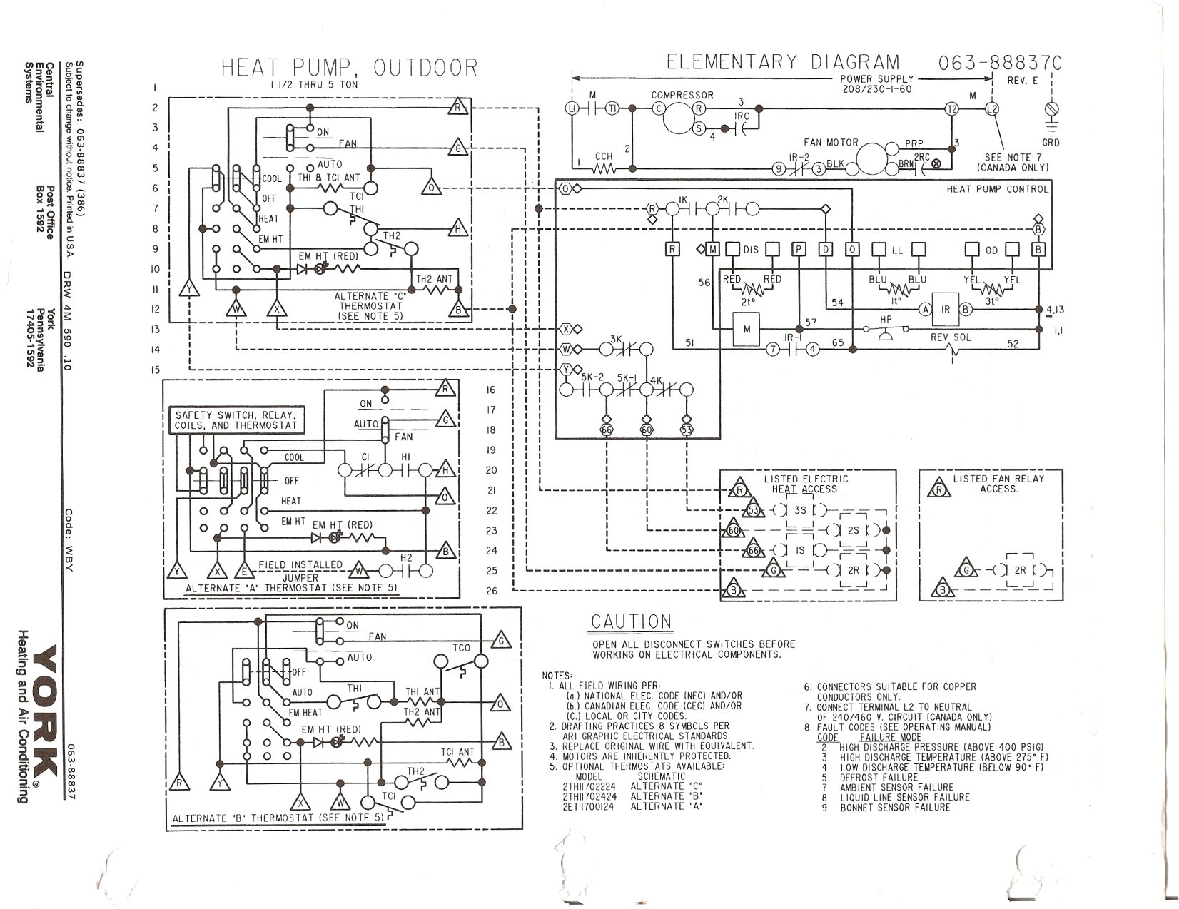 York Wiring Diagram on